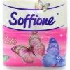 Туалетная бумага со втулкой 3-х слойная   Soffionе ( 4 рулона )